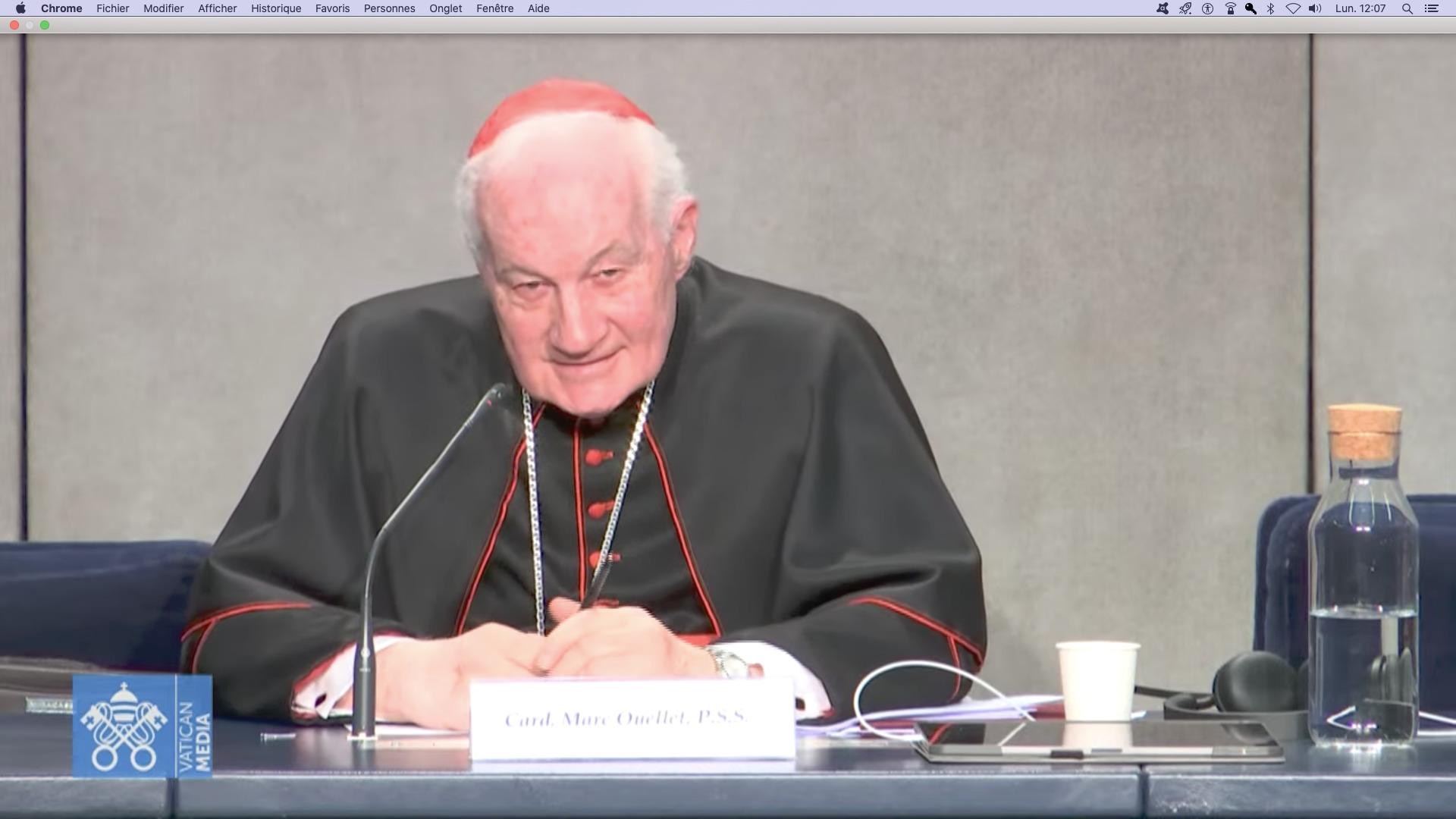 Card. Marc Ouellet, capture @ Vatican Media
