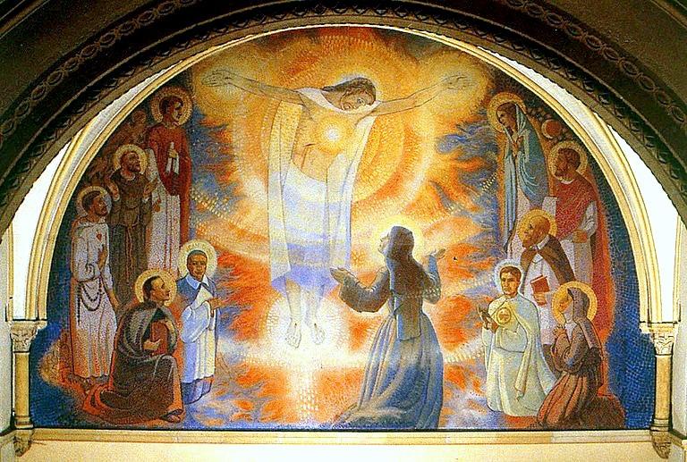 Fresque du Sacré Coeur, Visitation, Paray-le-Monial (France @ popesprayer.va