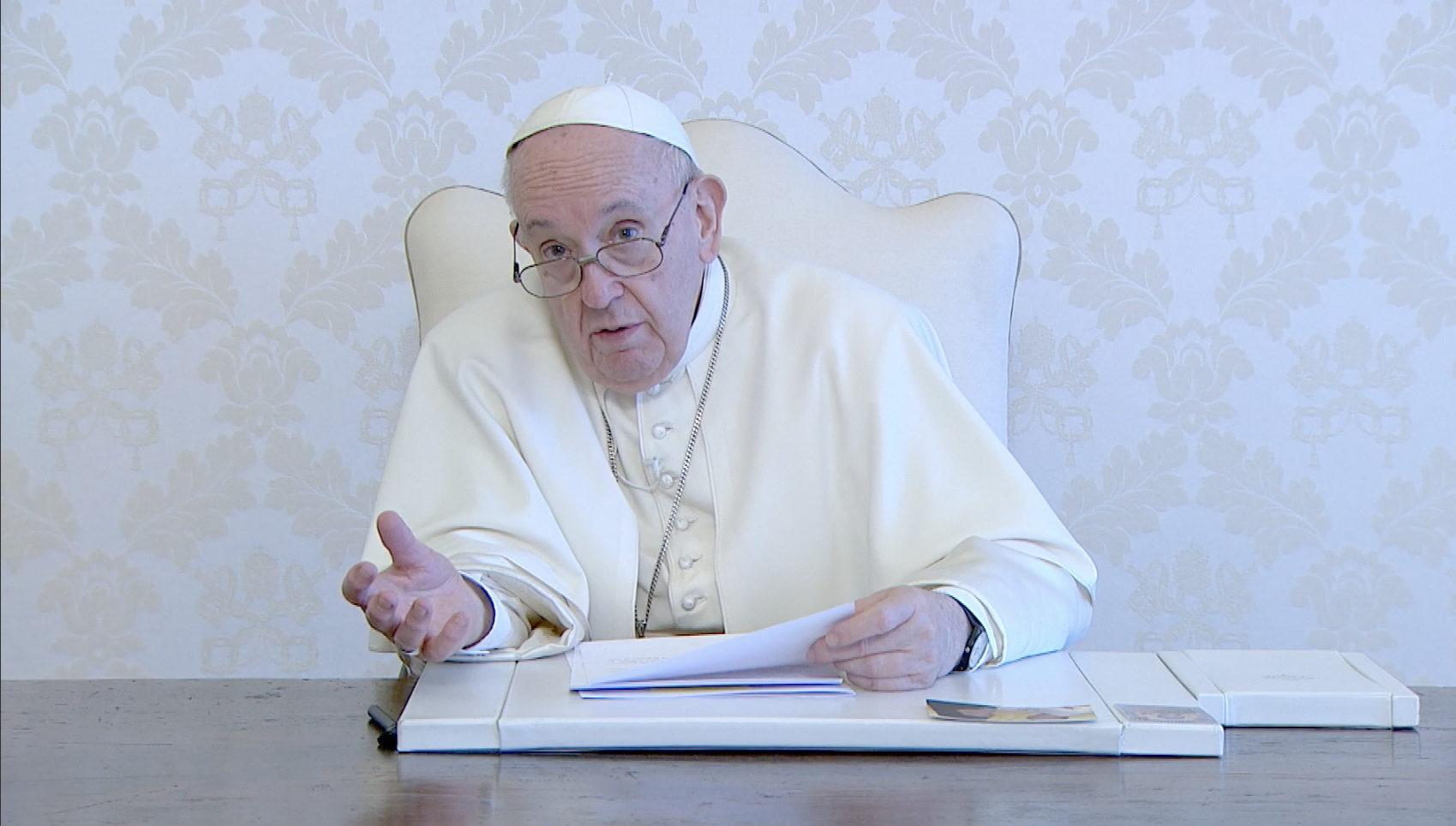 A propos du livre du p. Fiorito SJ, capture @ Vatican Media