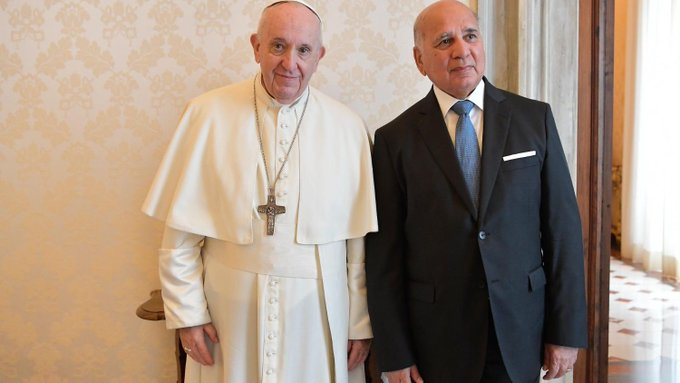 M. Fouad Hussein, MAE d'Irak, 3 mai 2021 © Vatican Media