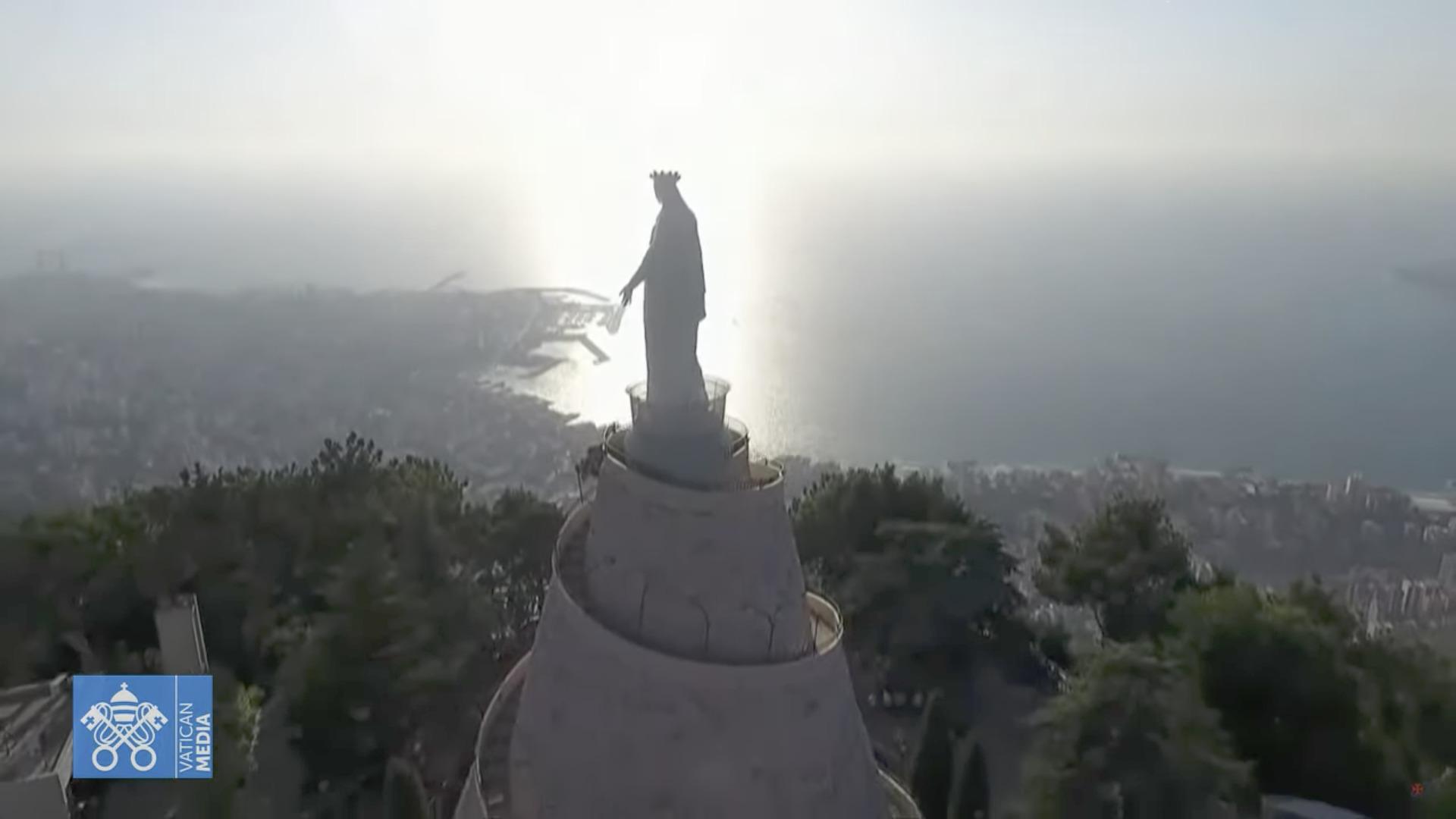 Notre Dame du Liban, Harissa, capture @ Vatican Media