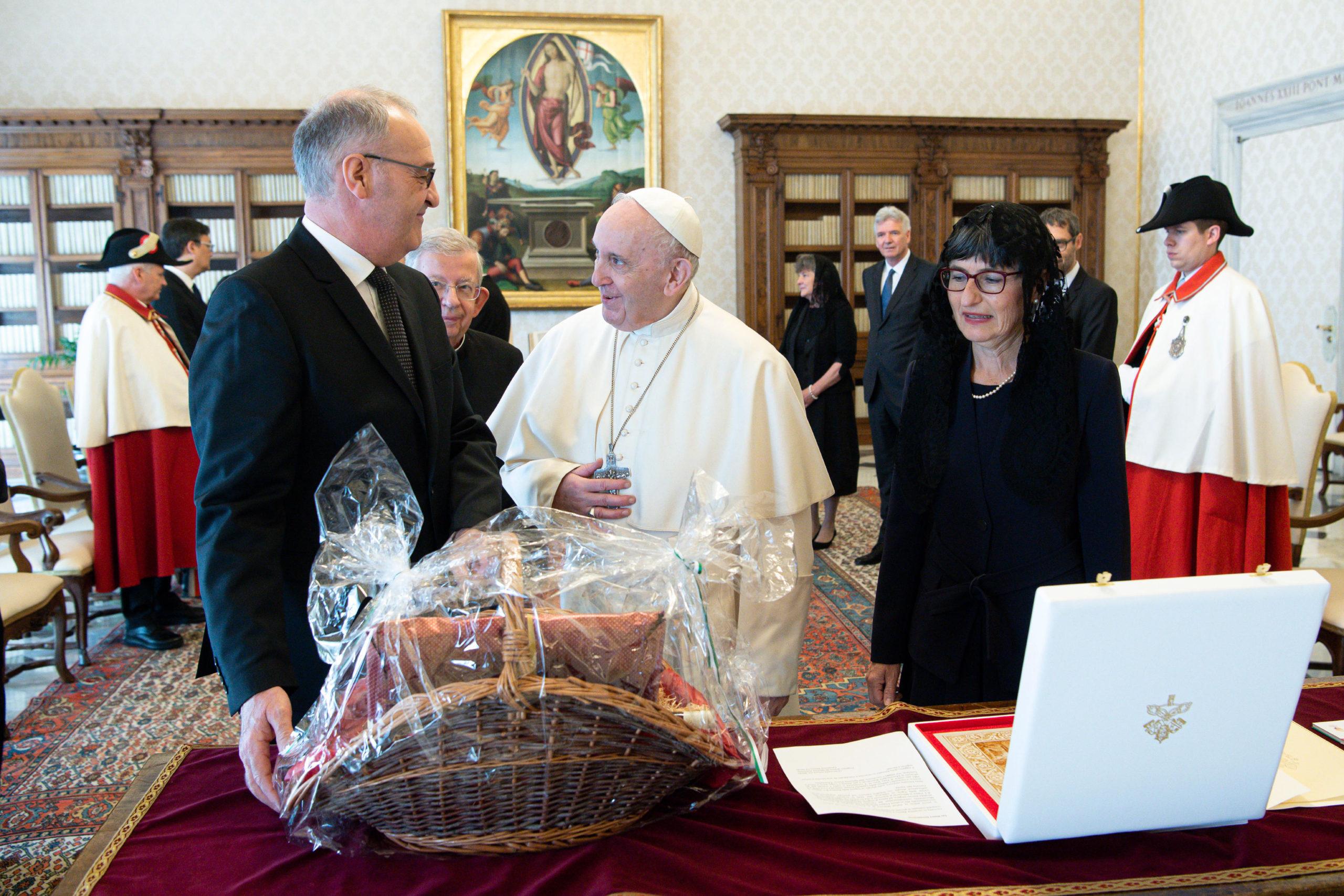 Guy Parmelin, président de la Confédération suisse, 6 mai 2021 © Vatican Media