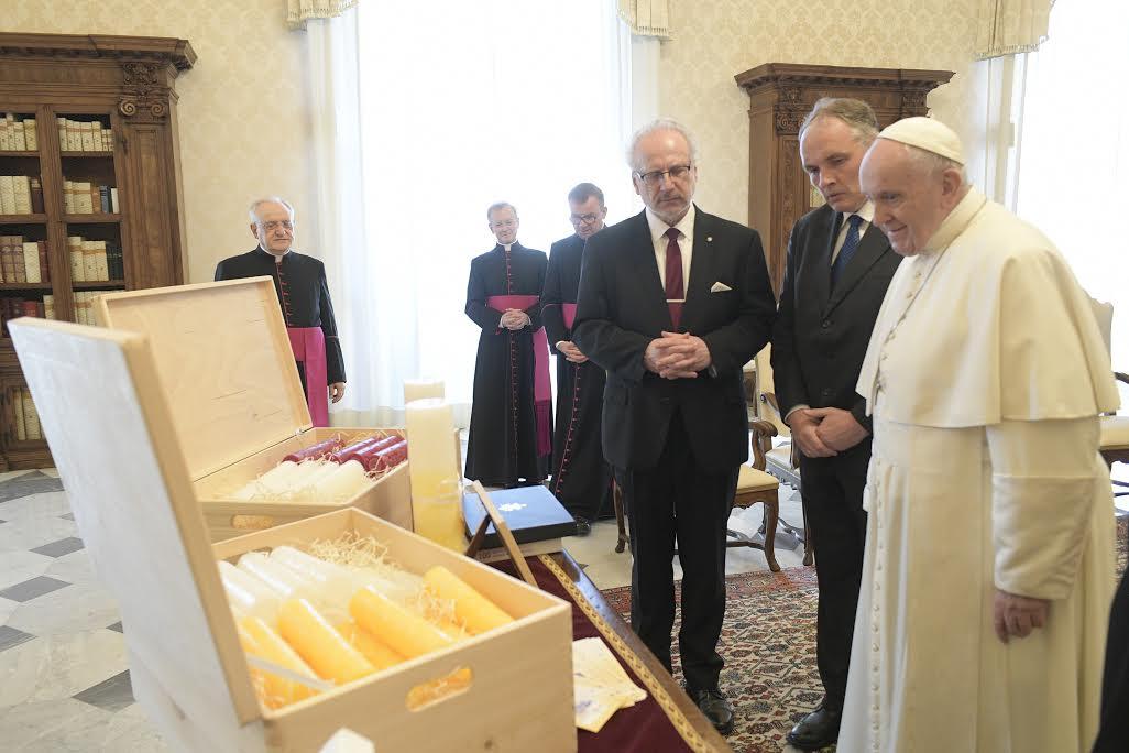 Le président Egils Levits (Lettonie) © Vatican Media