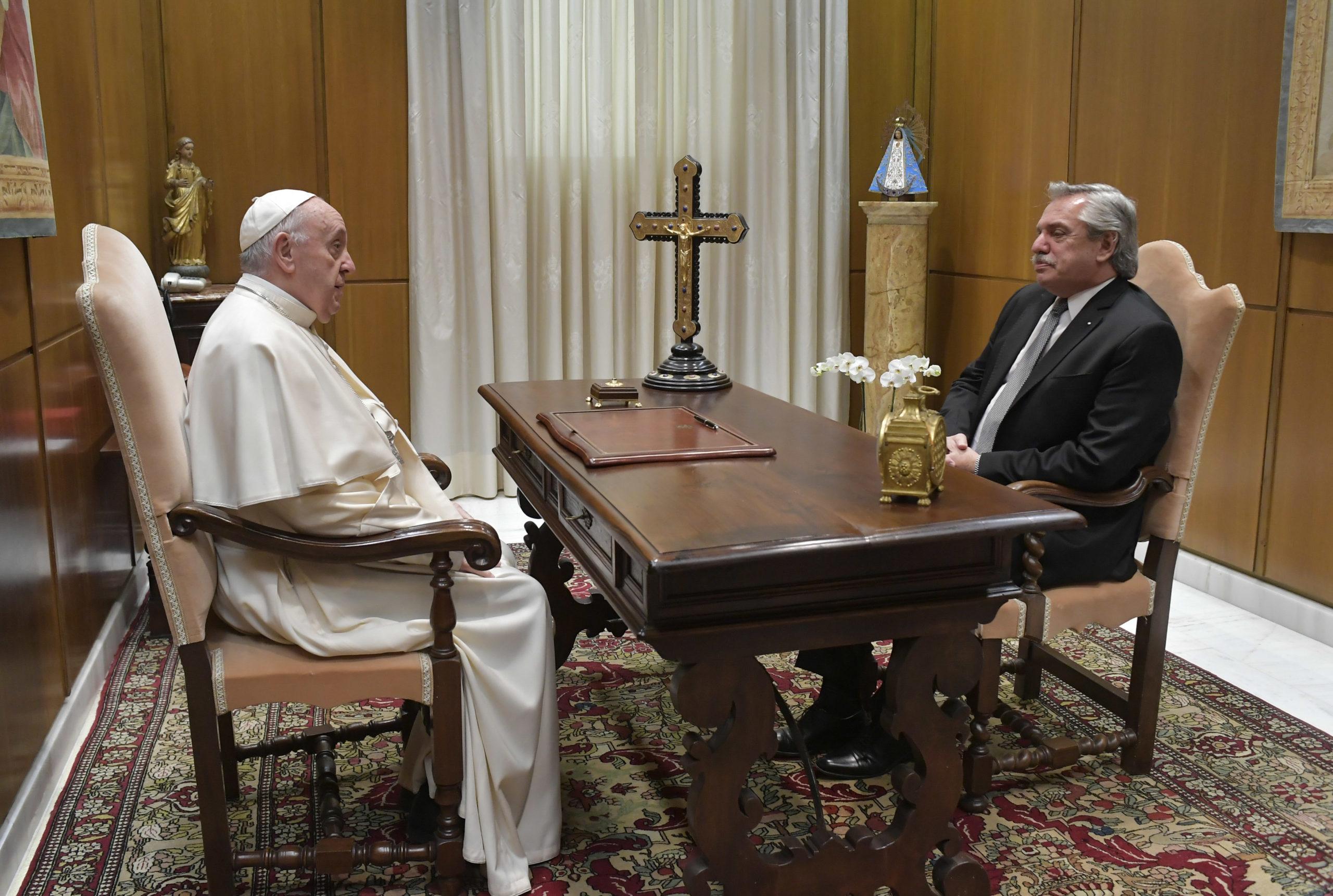 Alberto Fernández, président argentin, 13 mai 2021© Vatican Media