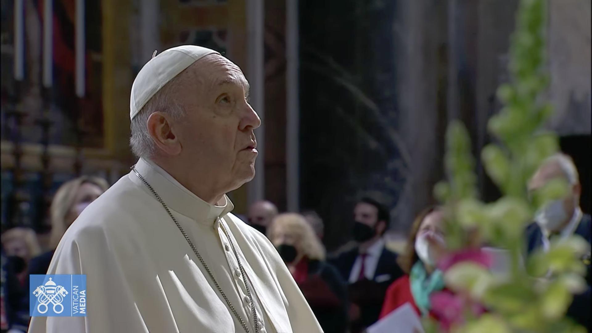 Marathon de prière, Jour 1, capture @ Vatican Media