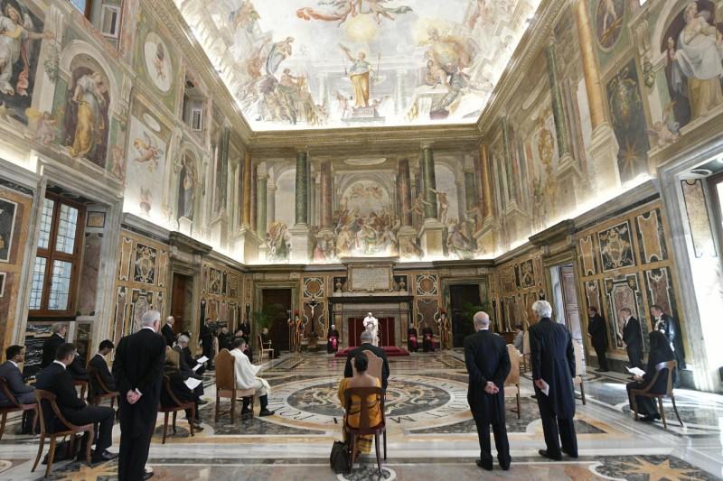 Nouveaux ambassadeurs près le Saint-Siège, 21 mai 2021© Vatican Media