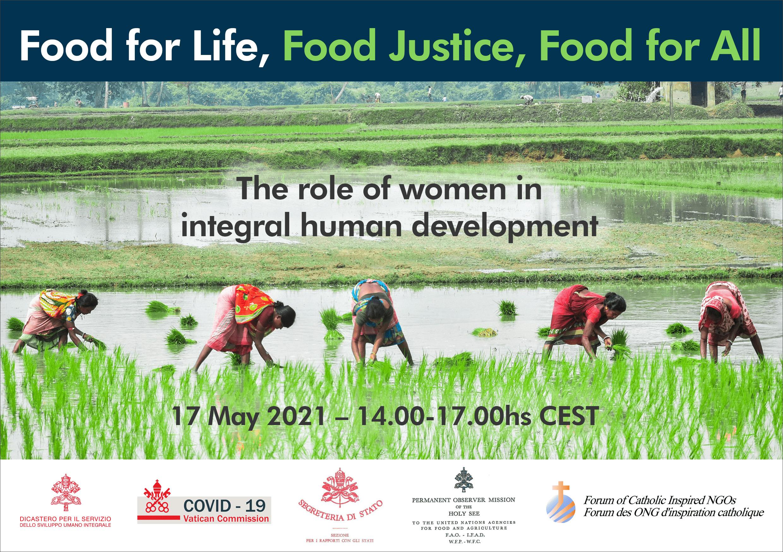 Femmes et justice alimentaire, webinaire du Vatican