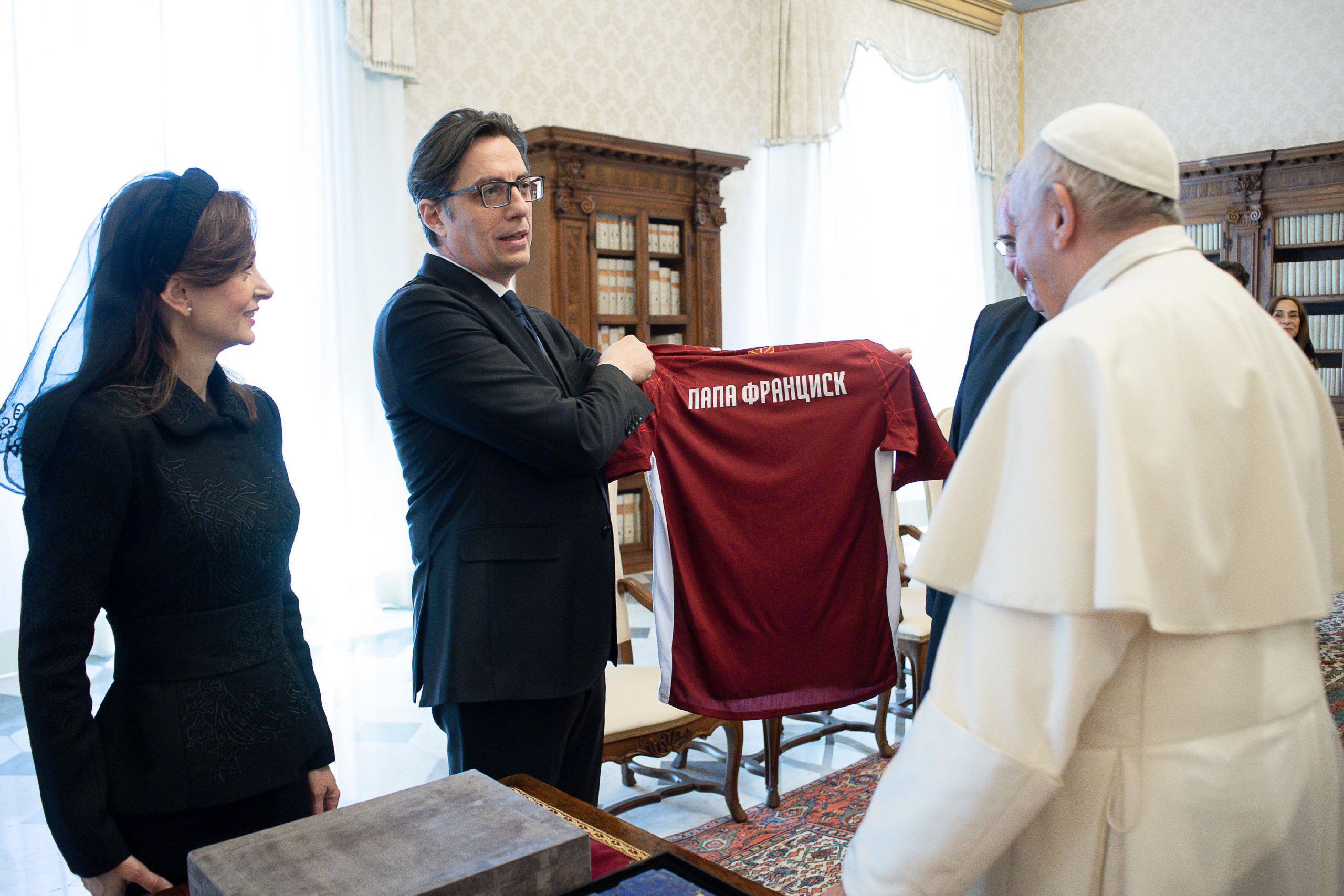 Président de la Macédoine du Nord Stevo Pendarovski © Vatican Media