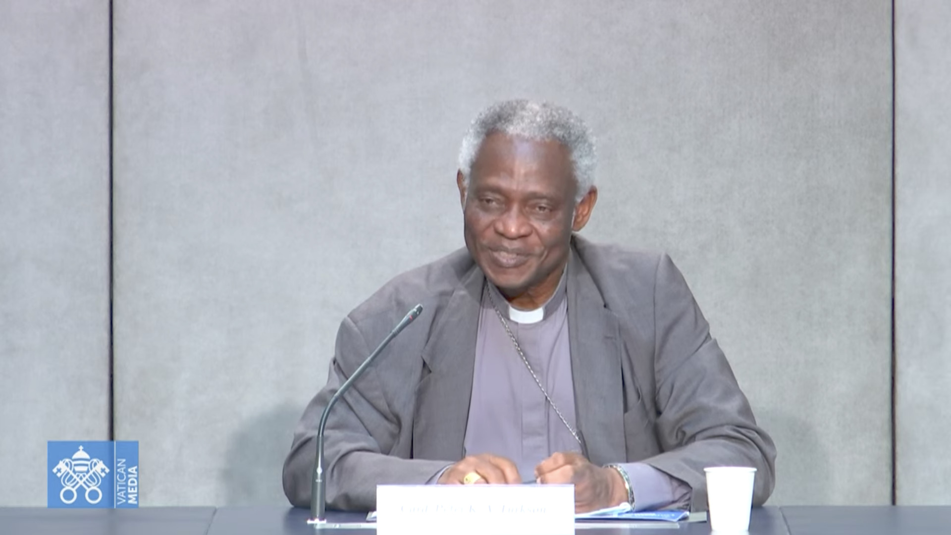 Card. Turkson, capture @ Vatican Media