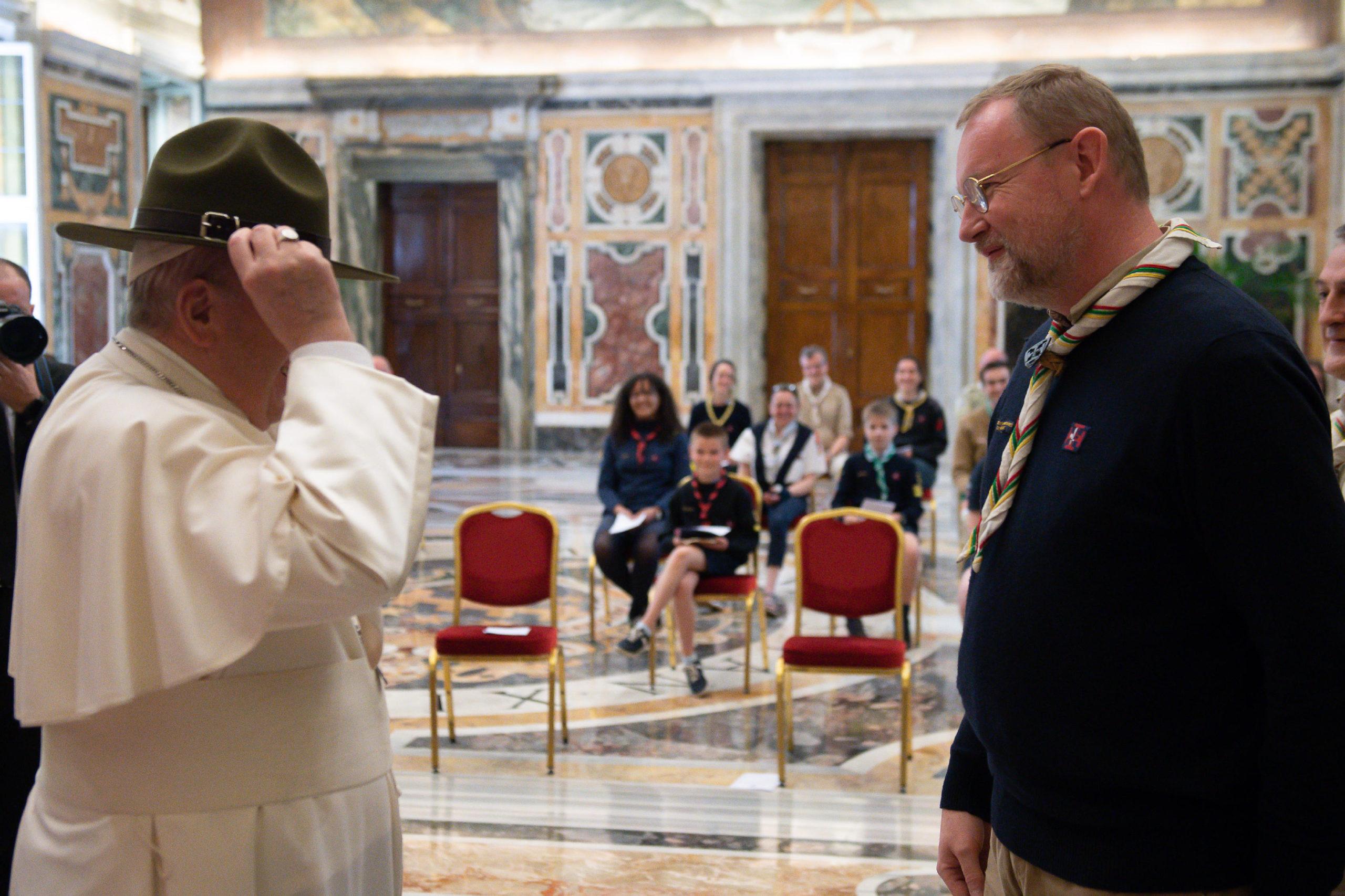 Scouts unitaires de France, 14 mai 2021 © Vatican Media