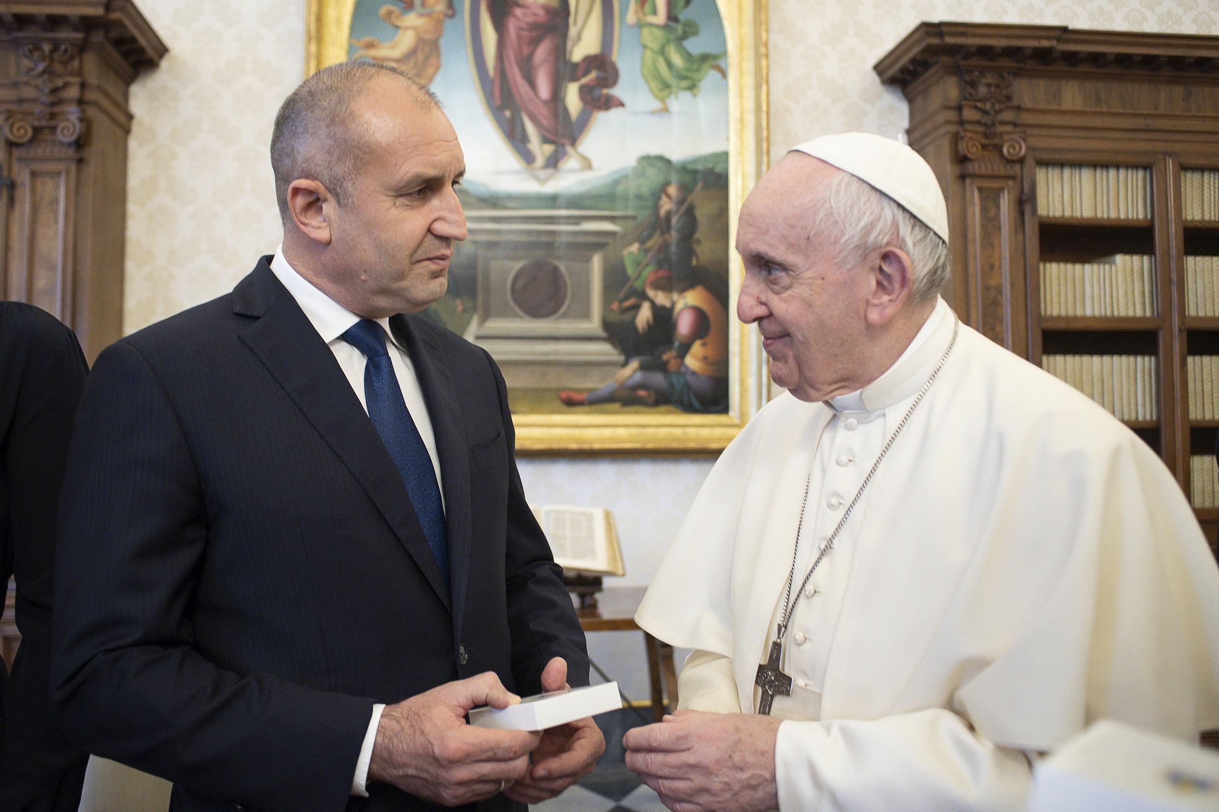 Rumen Radev, président de la Bulgarie © Vatican Media