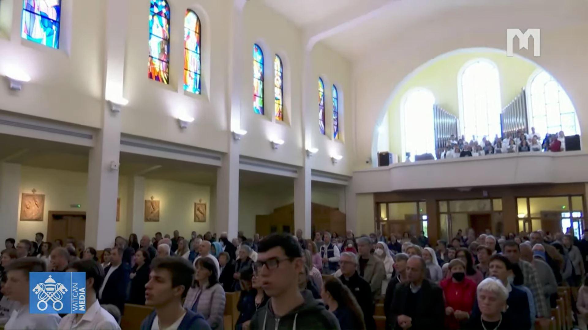 Marathon de prière à Medjugorje, 15 mai 2021, capture @ Vatican Media
