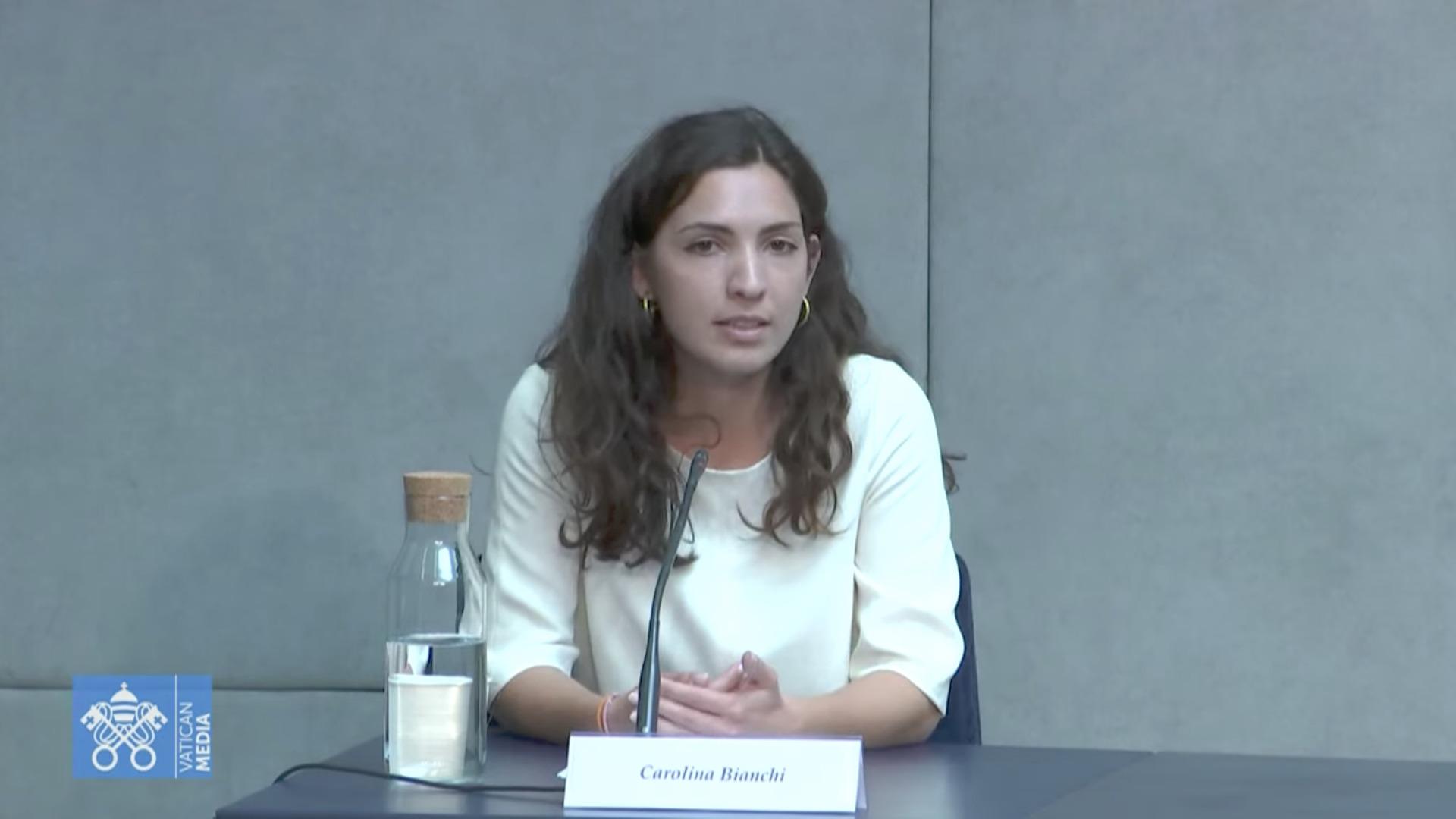 Carolina Bianchi, capture Vatican Media