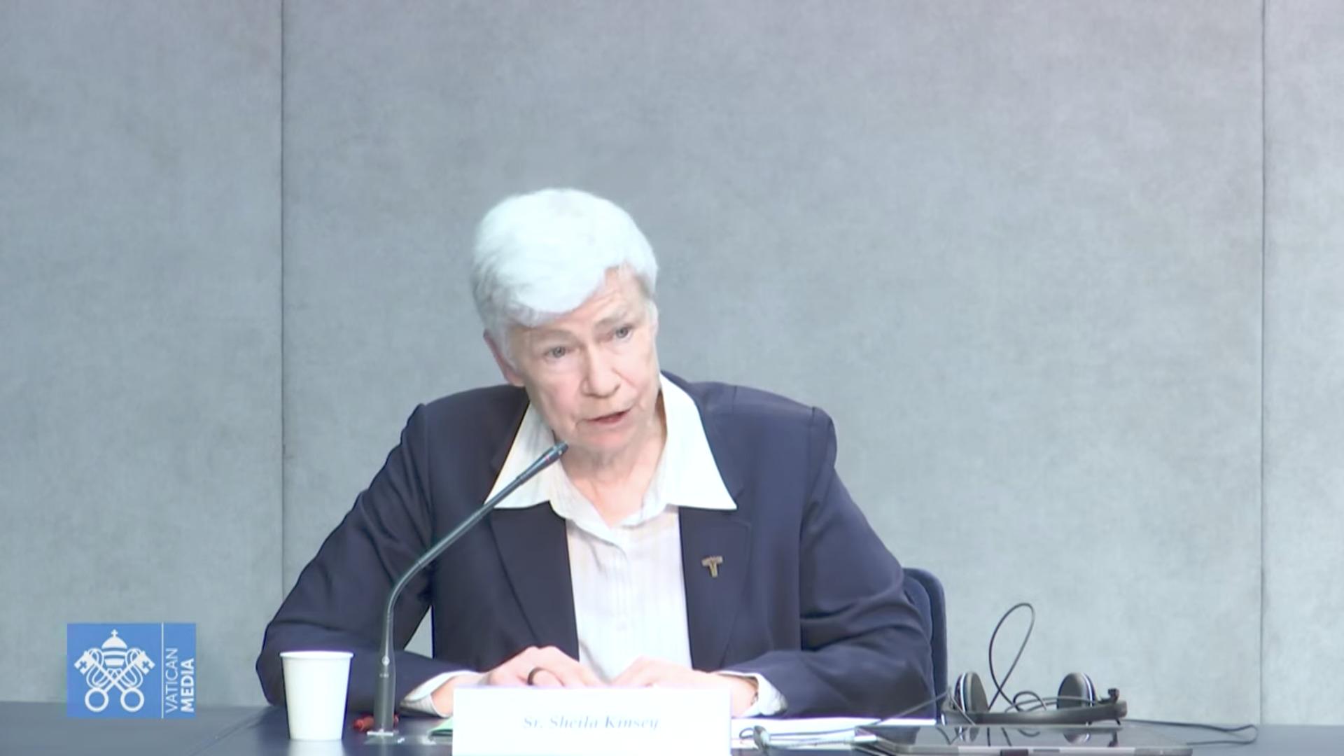 Soeur Sheila Kinsey (JPIC et UISG), capture Vatican Media