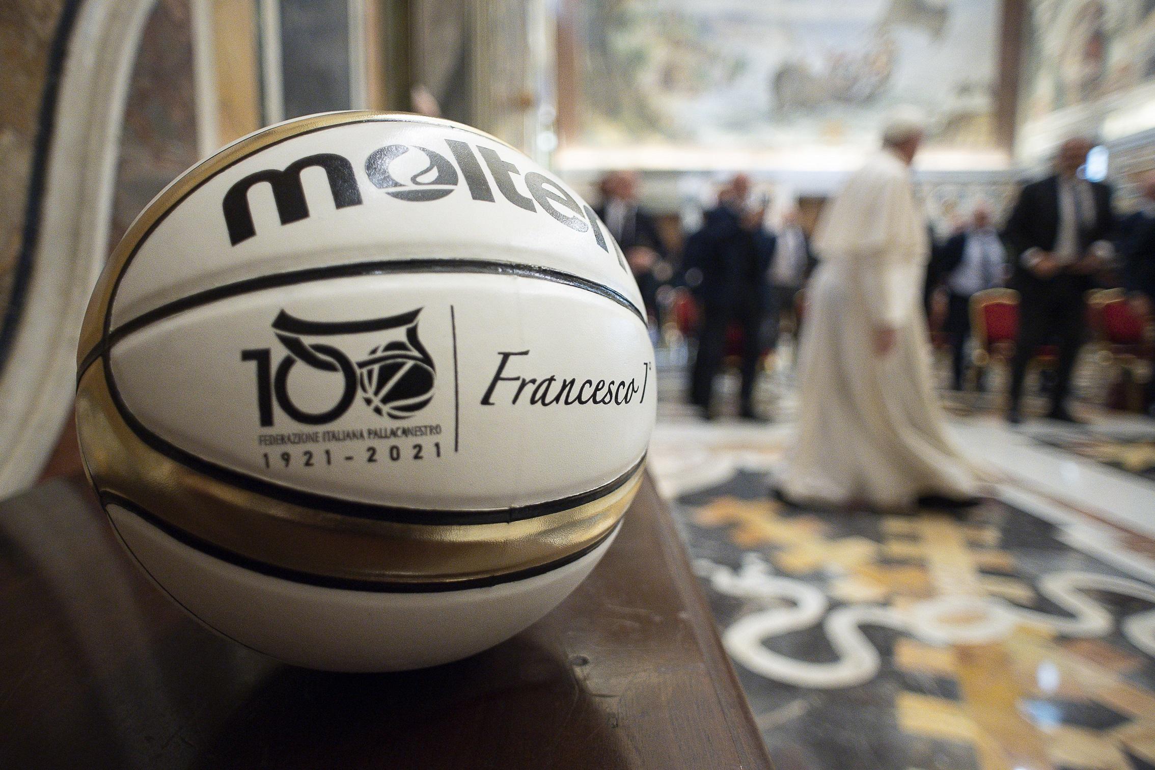 Fédération italienne de basket, 31 mai 2021 © Vatican Media