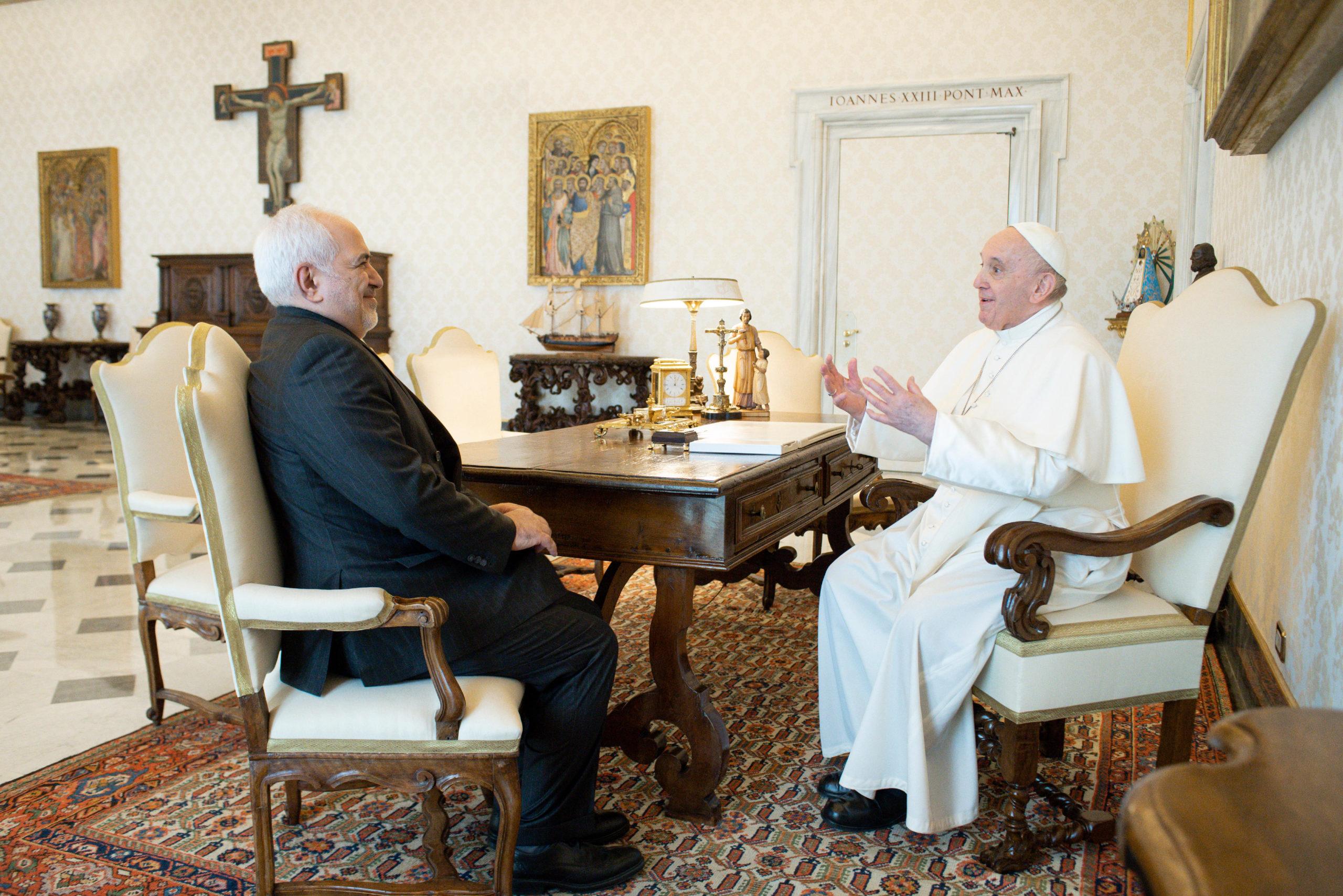 Javad Zarif, ministre des affaires étrangères de l'Iran © Vatican Media