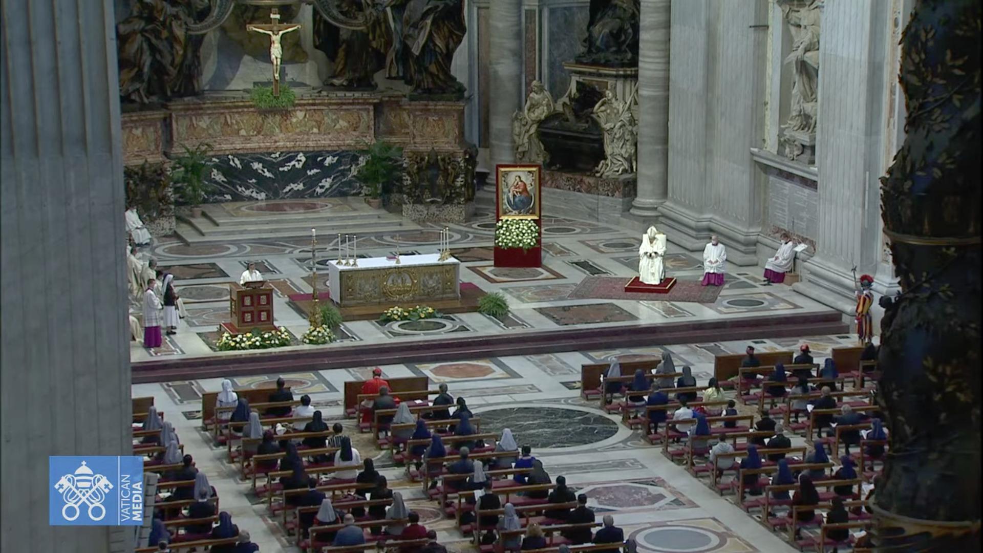 Messe pour la Birmanie, capture @ Vatican Media