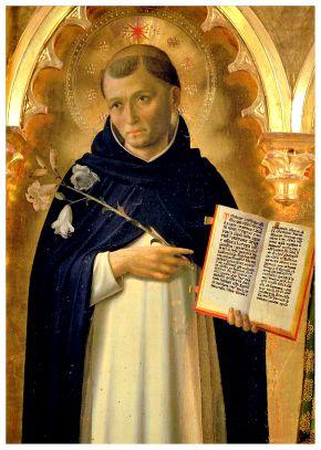 S. Dominique par Fra Angelico (v. 1437), retable, Pérouse, DP