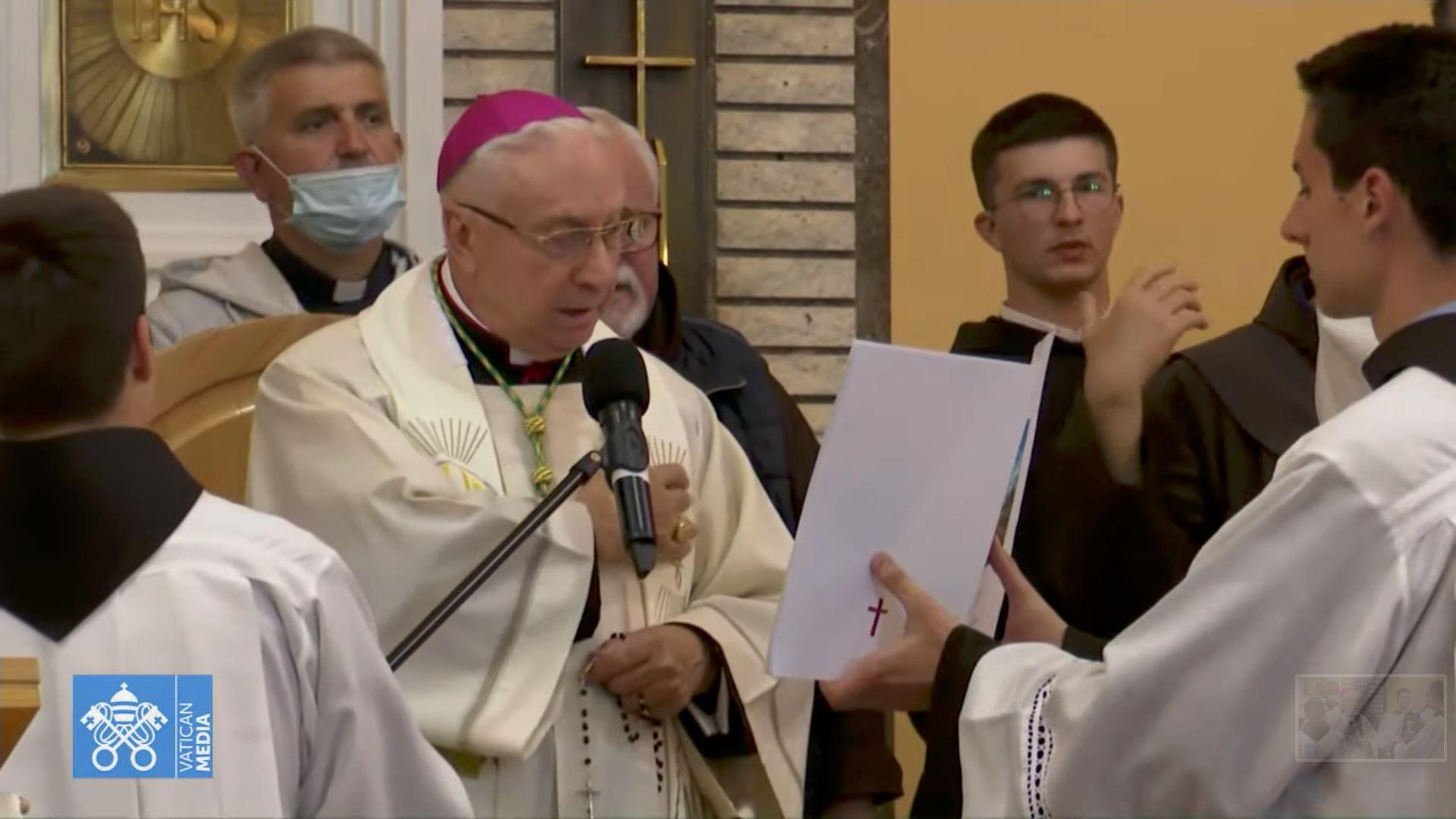 Mgr Pezzuto, Marathon de prière à Medjugorje, 15 mai 2021, capture @ Vatican Media