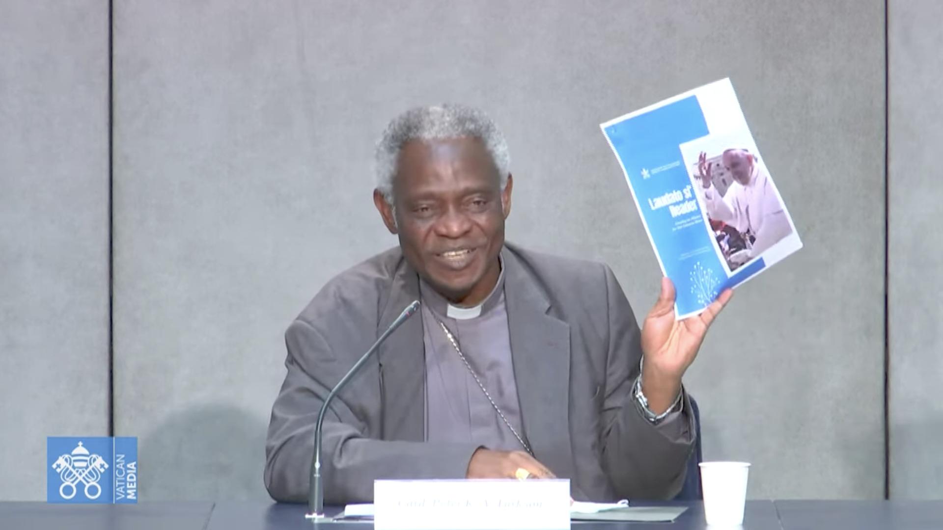 "Card. Turkson et ""Laudato si' Reader"", capture @ Vatican Media"