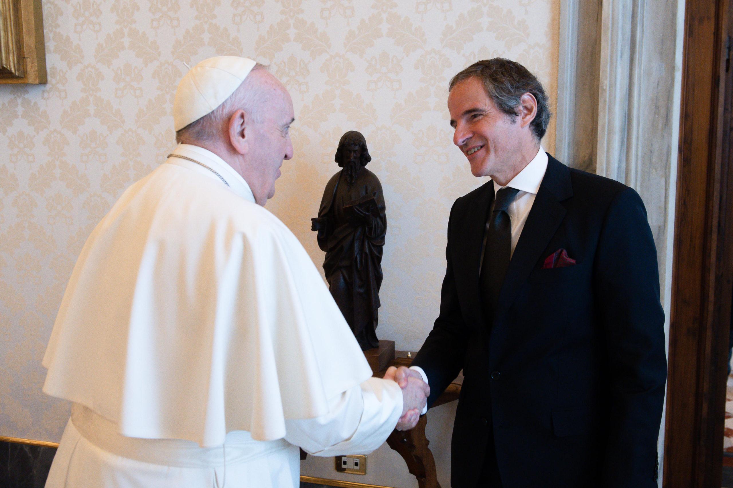 Rafael Mariano Grossi, président de l'IAEA © Vatican Media