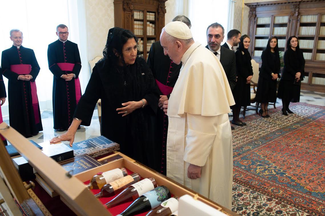 Mme Zourabichvili, 18 juin 2021 © Vatican Media