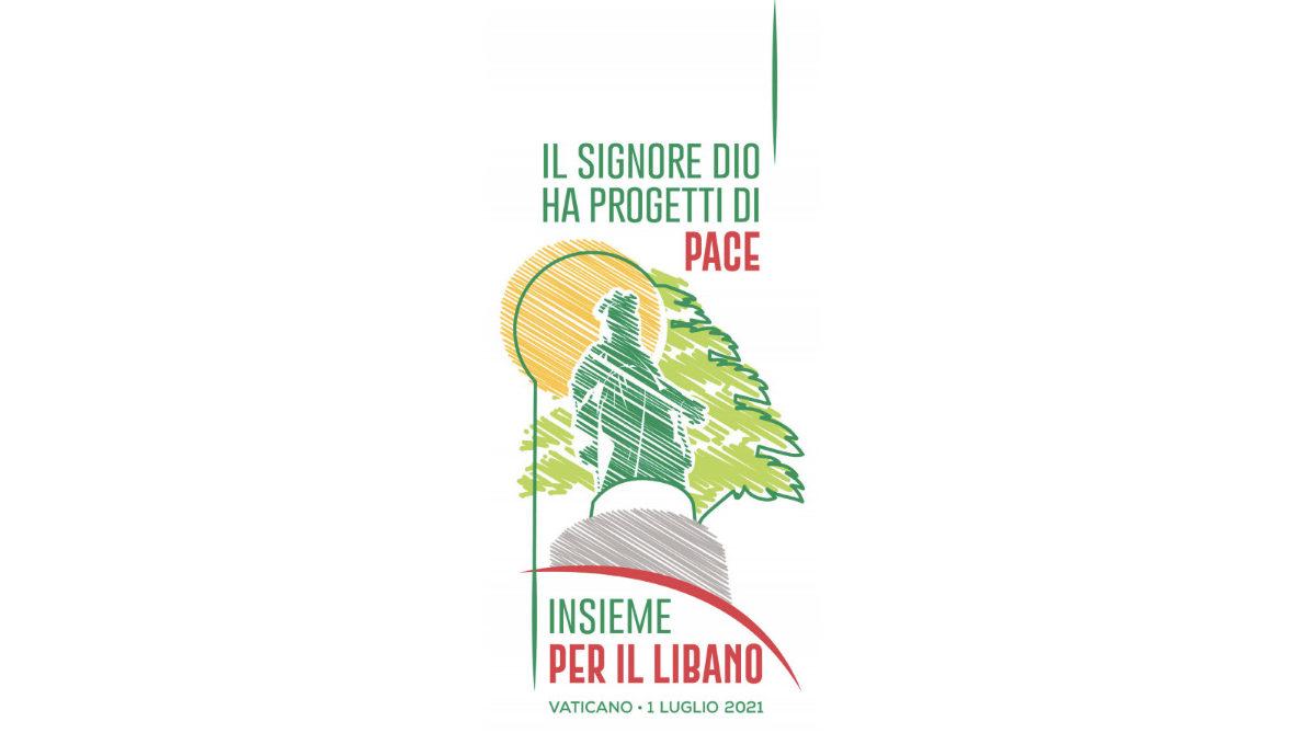 """""""Ensemble pour le Liban"""", 1er juillet 2021, logo"""