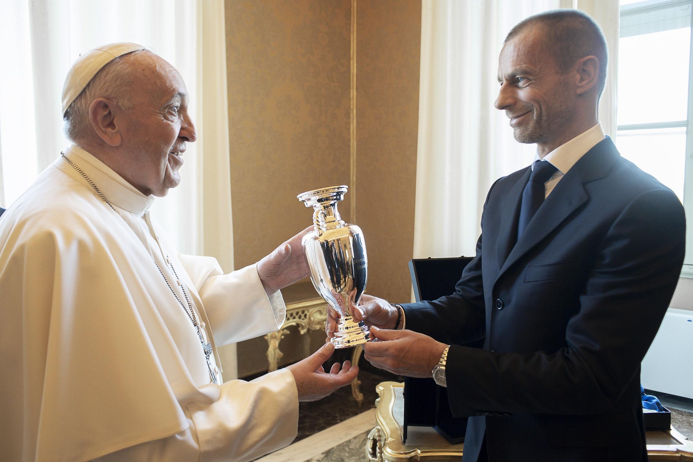 Dirigeants de l'UEFA et de la FIGC © Vatican Media
