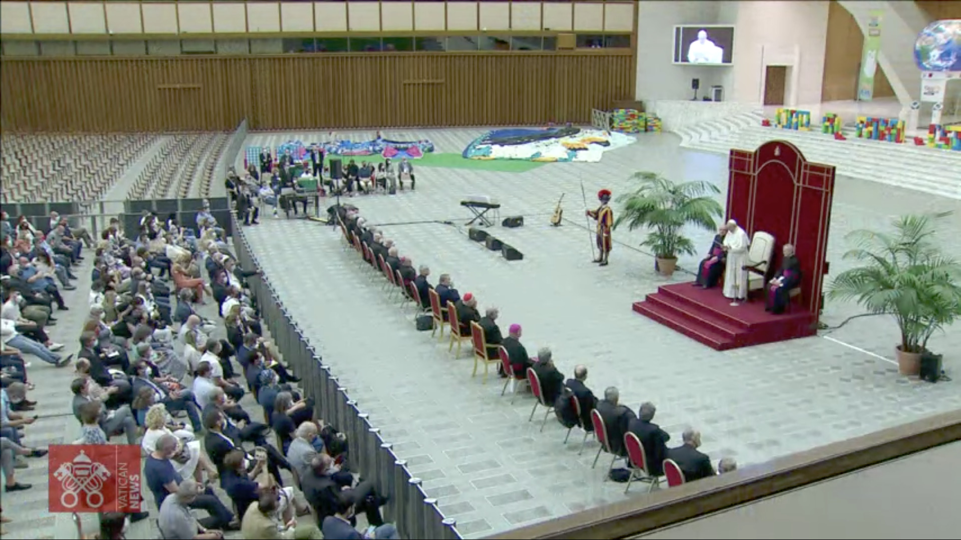Les 50 ans, de Caritas, capture Vatican Media