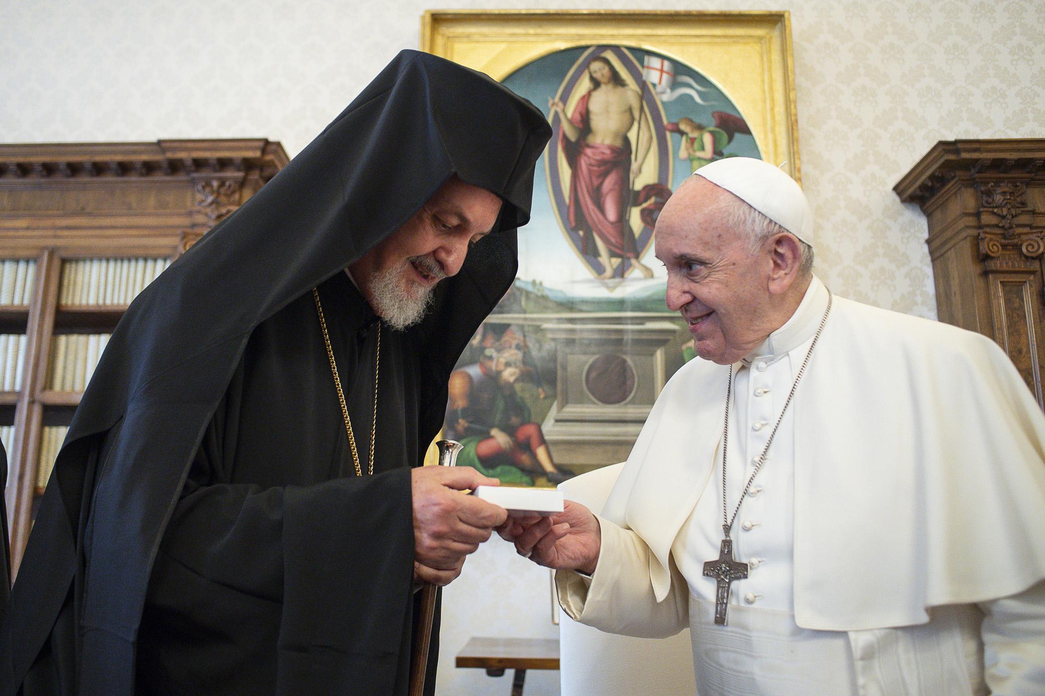 Délégation du Patriarcat oecuménique de Constantinople, 28 juin 2021 © Vatican Media