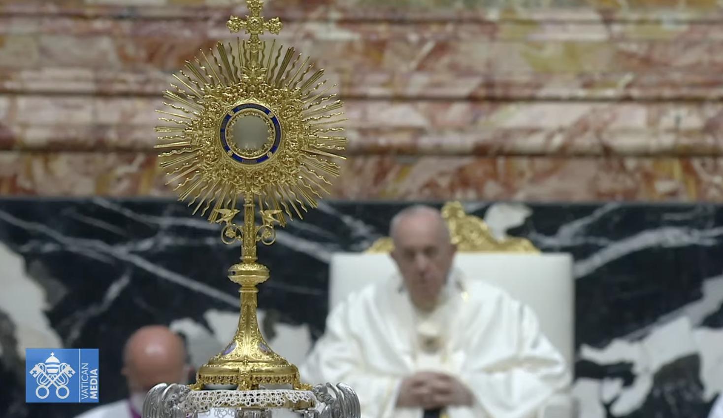 Fête-Dieu, 6 juin 2021, capture Vatican Media