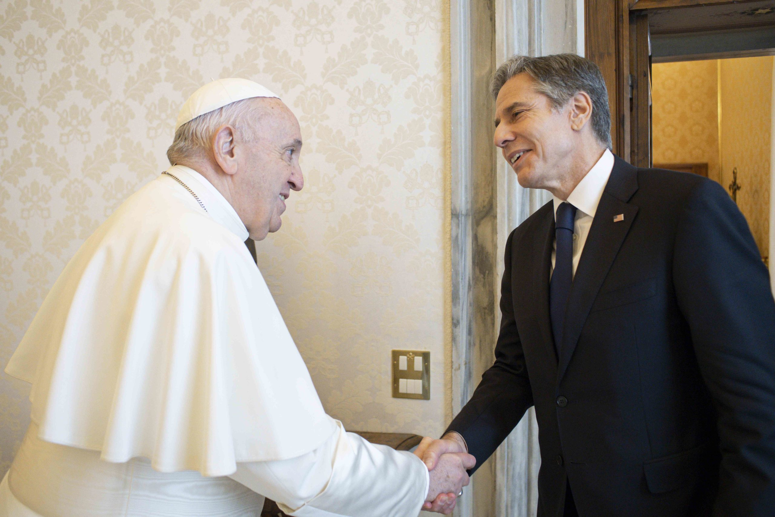Antony Blinken, secrétaire d'Etat des Etats-Unis © Vatican Media