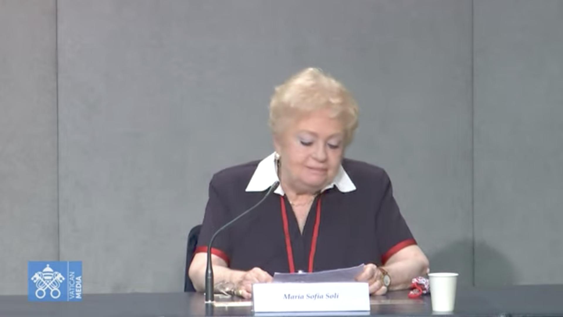 Mme Maria Sofia Soli, capture Vatican Media