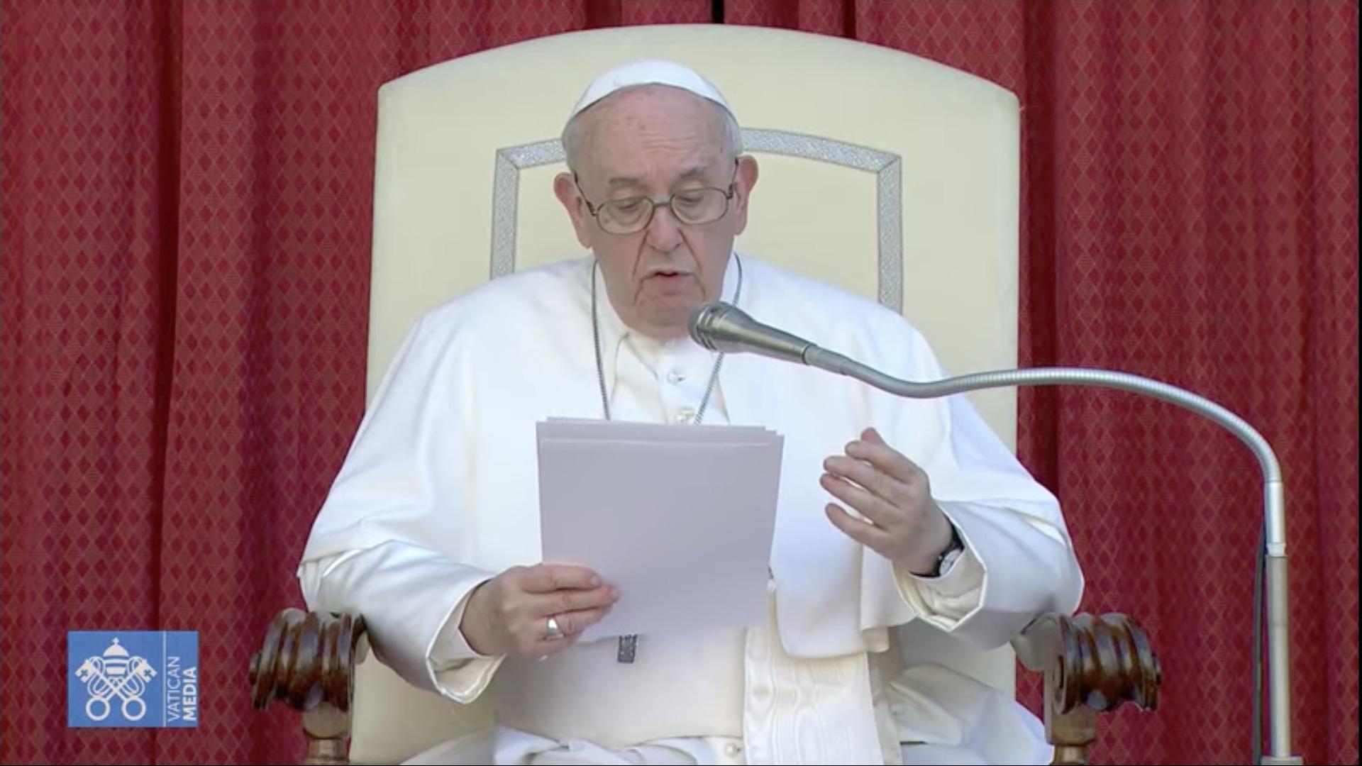 Audience du 30 juin 2021, capture Zenit / Vatican Media
