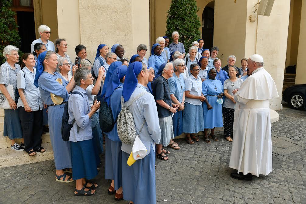 Petites soeurs de Jésus, Audience du 23 juin 2021 © Vatican Media