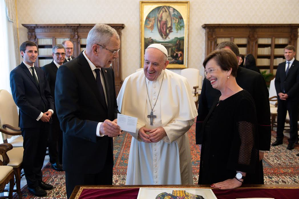 Président autrichien, Alexander Van der Bellen © Vatican Media