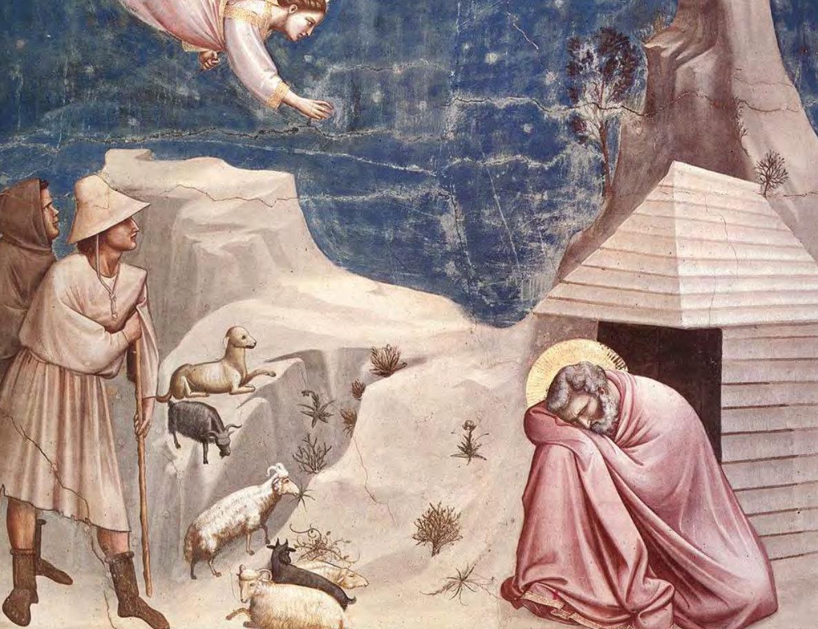 L'ange et S. Joachim, Giotto (chapelle des Scrovegni Padoue, Italie) © Dicastère Laïcs, Famille, Vie
