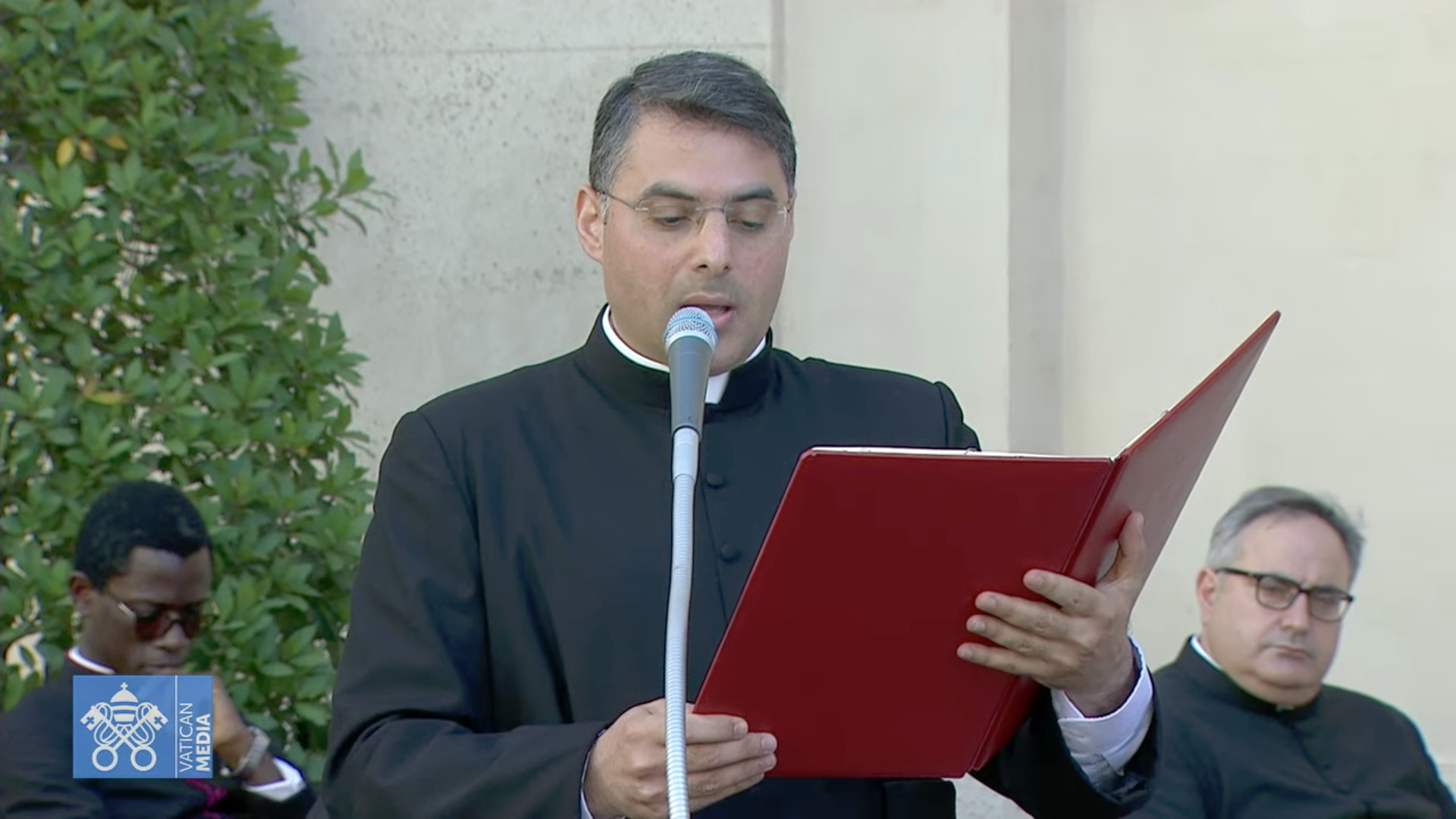 P. Georges Ayoub, 30 juin 2021, capture de Zenit / Vatican Media