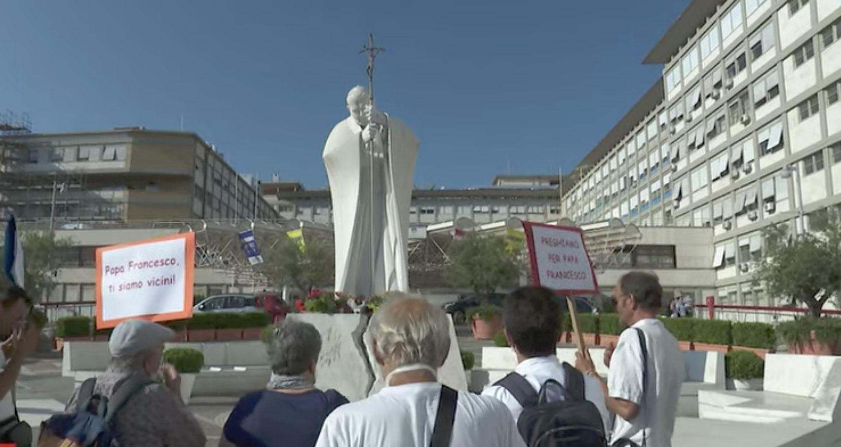 Hôpital Agostino Gemelli de Rome, capture Zenit / Vatican News
