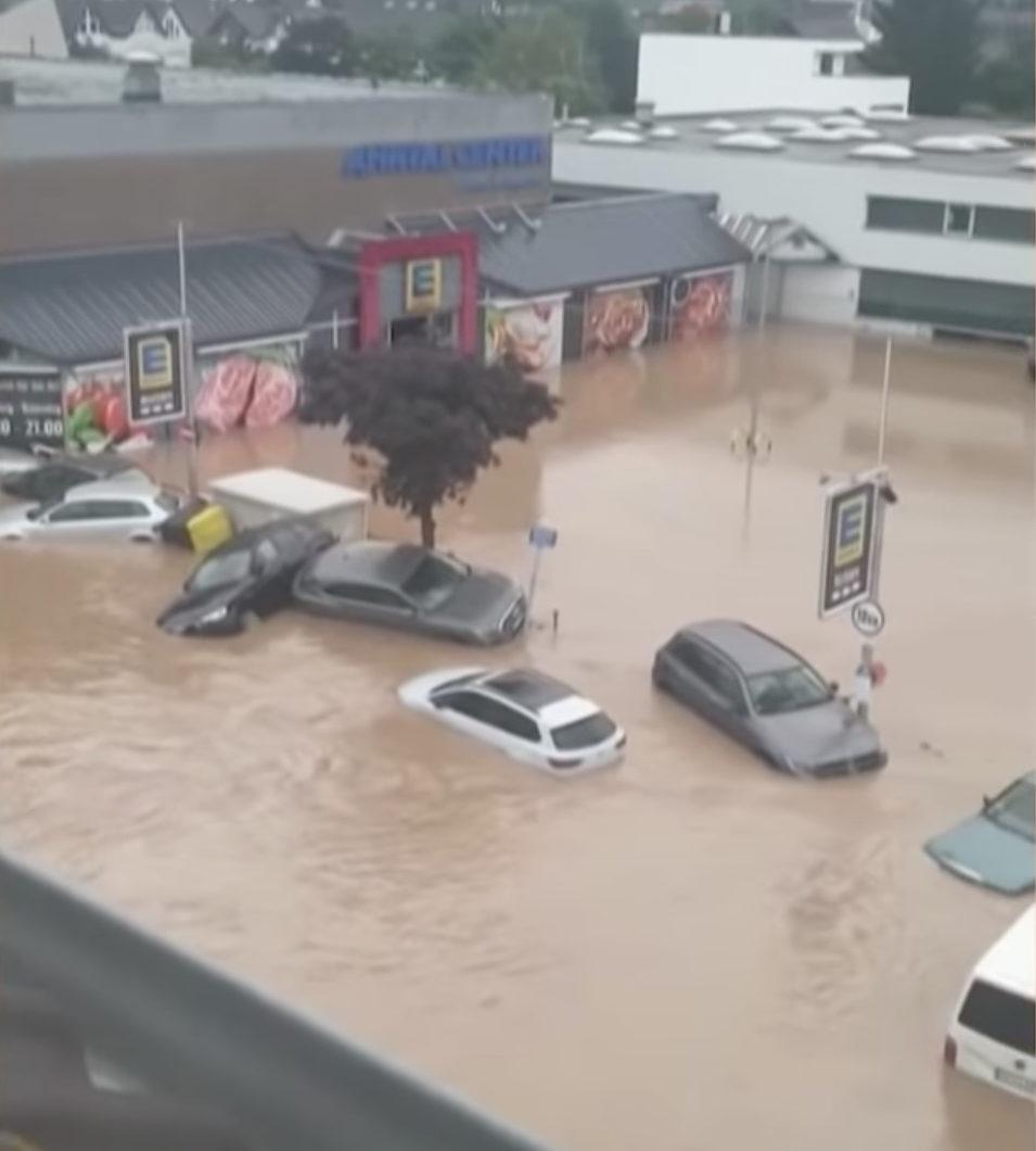Inondations en Allemagne, capture YouTube