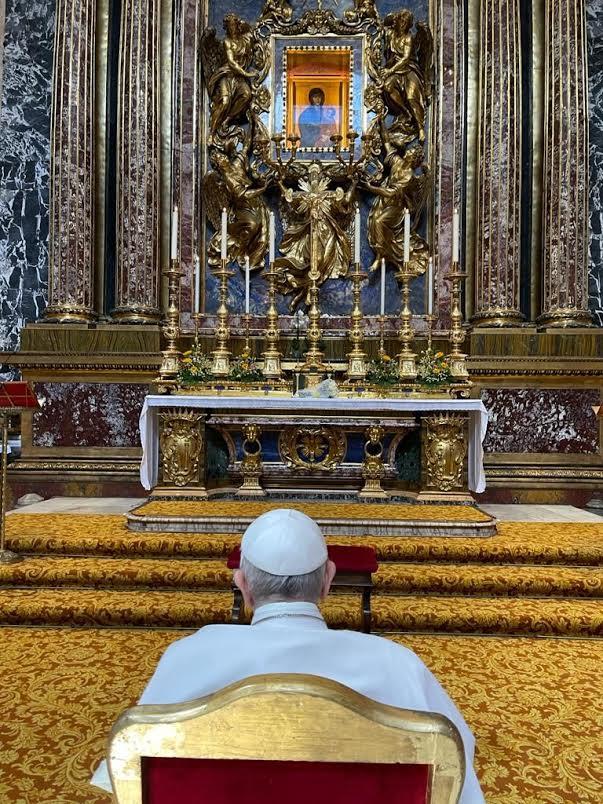 Visite à Sainte-Marie-Majeure, 14 juil. 2021 © Vatican Media
