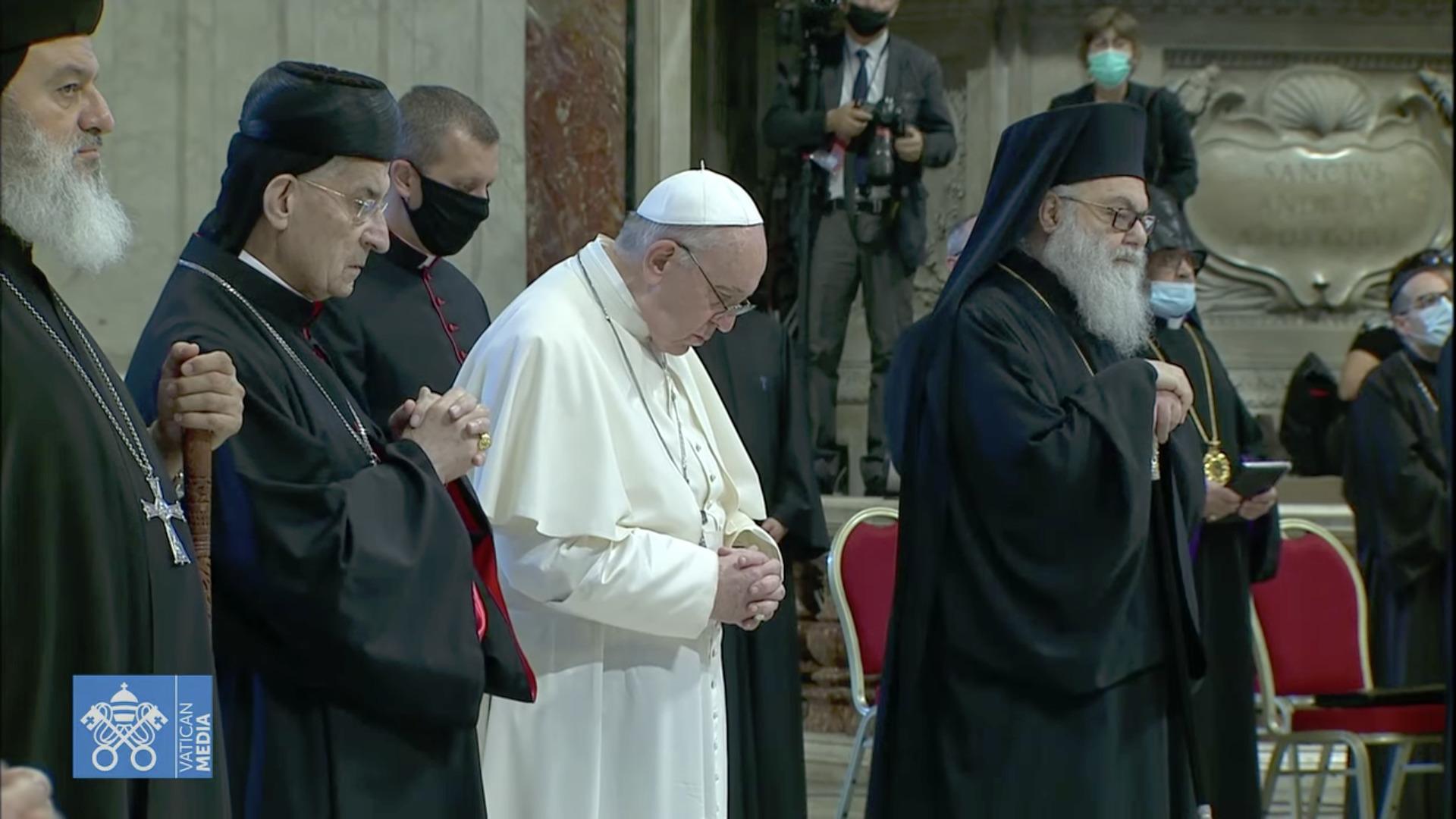 Rencontre pour le Liban 1er juillet 2021, capture Zenit / Vatican Media