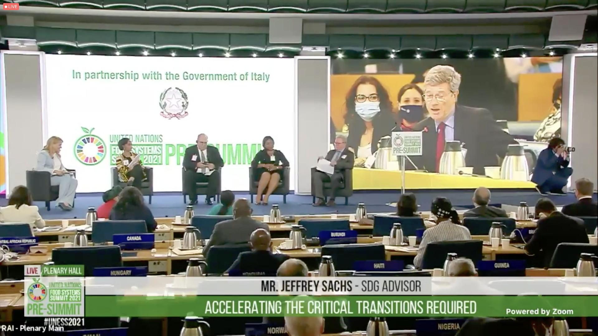Pré-sommet de Rome sur l'alimentation, juillet 2021, capture ONU