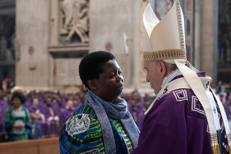 Rita Mboshu Kongo, messe pour les Congolais de Rome, 1er déc. 2019 © Vatican Media