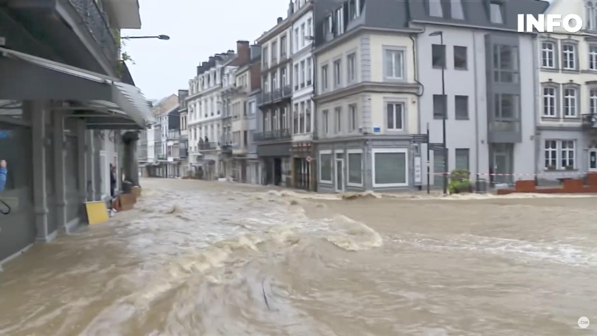 Inondations en Belgique, capture RTBF / YouTube
