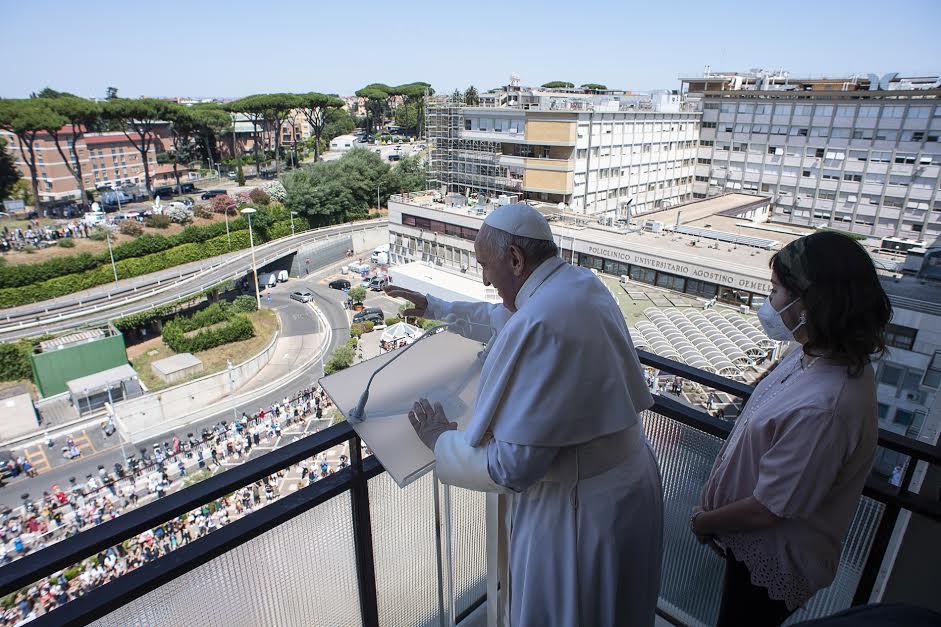 Angélus, Gemelli, 11 juillet 2021 © Vatican Media