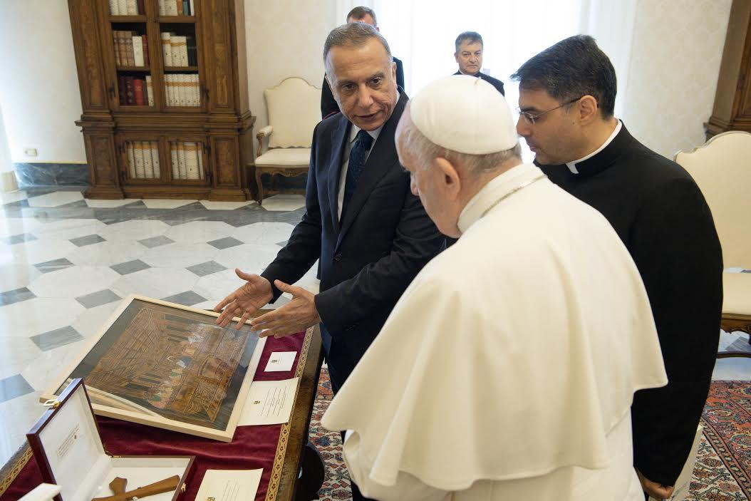 Visite de M. Al-Khadimi (Irak) © Vatican Media