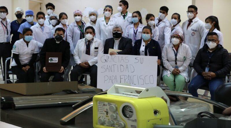 Bolivie, don de respirateurs, Hospital del Sur © diocèse de Cochabamba