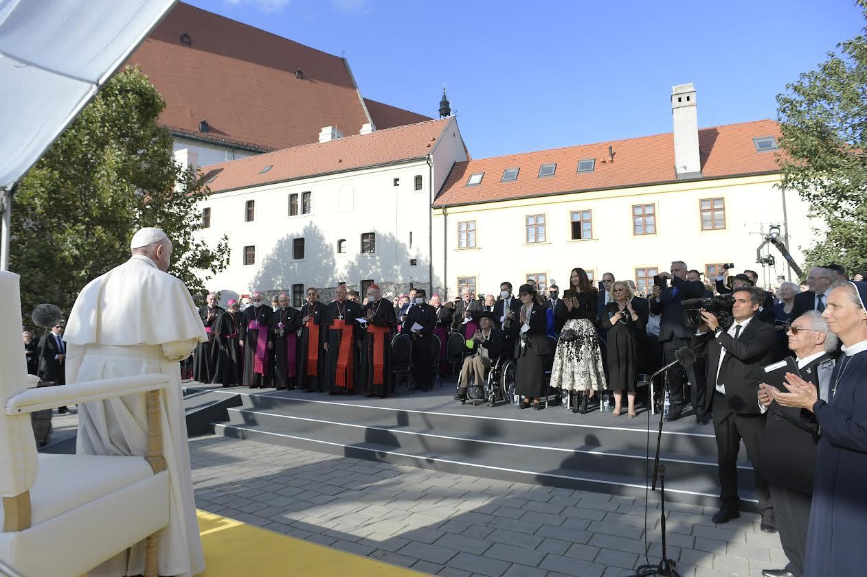 Rencontre avec les communautés juives de Slovaquie © Vatican Media