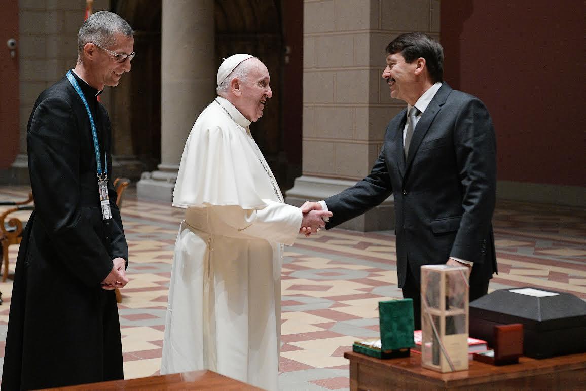Rencontre avec le président Janos Ader, 12 sept. 2021, Budapest © Vatican Media